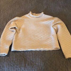 St John cream ribbed crop sweater P